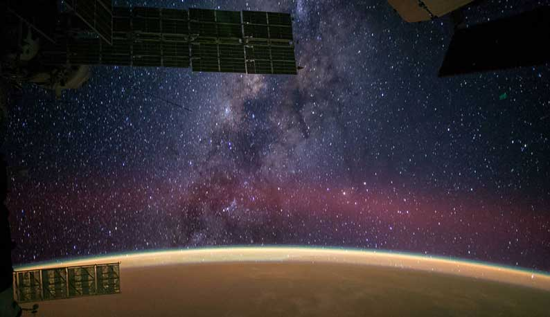 ISS Milky Way, Credit: NASA, Reid Wiseman