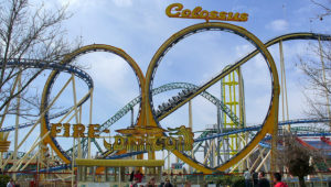 The Colossus - An old school roller coaster at Lagoon.