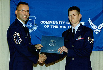 R. Brady Frost receives Associates Degree, Community College of the Air Force.