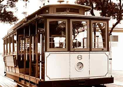 A small image of a trolley streetcar.