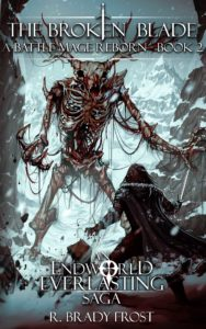 Denton faces off against a Prime Wendigo in the Frostwind Mountains - ebook cover for The Broken Blade